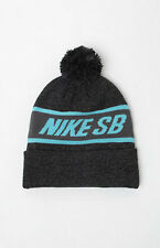 MEN'S GUYS NIKE SB Snowflake POM black/grey  BEANIE TOQUE SKI HAT NEW