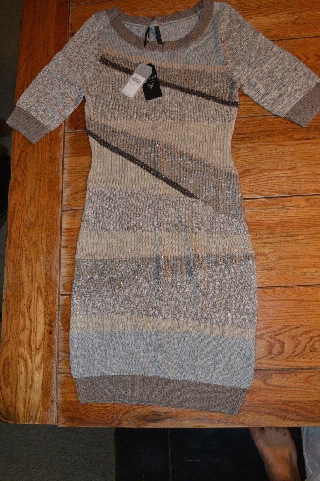 Guess 1 2 Sleeve  Intarsia Dress