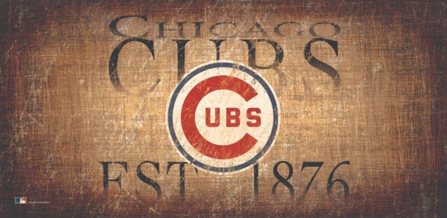 1950 Chicago cubs official program Reproduction Metal Sign 8 x 12 made USA