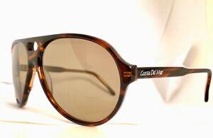 Vintage-Costa-Del-Mar-Tortoiseshell-Aviator-Sunglasses-Hand-Made-NOS
