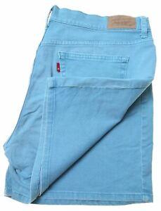 Levi-039-s-Damen-515-Denim-Shorts-w34-blau-Baumwolle-ju11