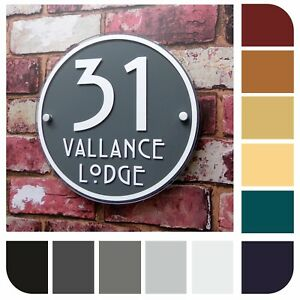 a513c2c56fc3 Image is loading HOUSE-SIGNS-MODERN-ADDRESS-PLAQUES-DOOR-NUMBER-ROUND-