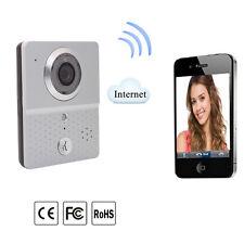 Wireless 3G/4G/WiFi Remote Video Door Phone Intercom Doorbell IR Camera Silver