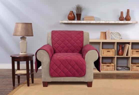 Excellent Sure Fit Microfleece Recliner Furniture Cover Non Slip Burgundy Unemploymentrelief Wooden Chair Designs For Living Room Unemploymentrelieforg