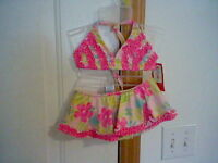 Brand Infant Girl's Size 18 Months Kidgets Two Piece Bathing Suit