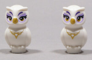 LEGO-Friends-2-x-Elfen-Eule-Nascha-weiss-Elves-Owl-Nascha-21333pb01-NEUWARE