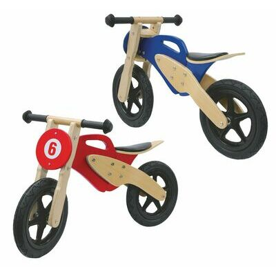 Kids Wooden Motorbike First Balance training learning Scooter Child Bike Toy