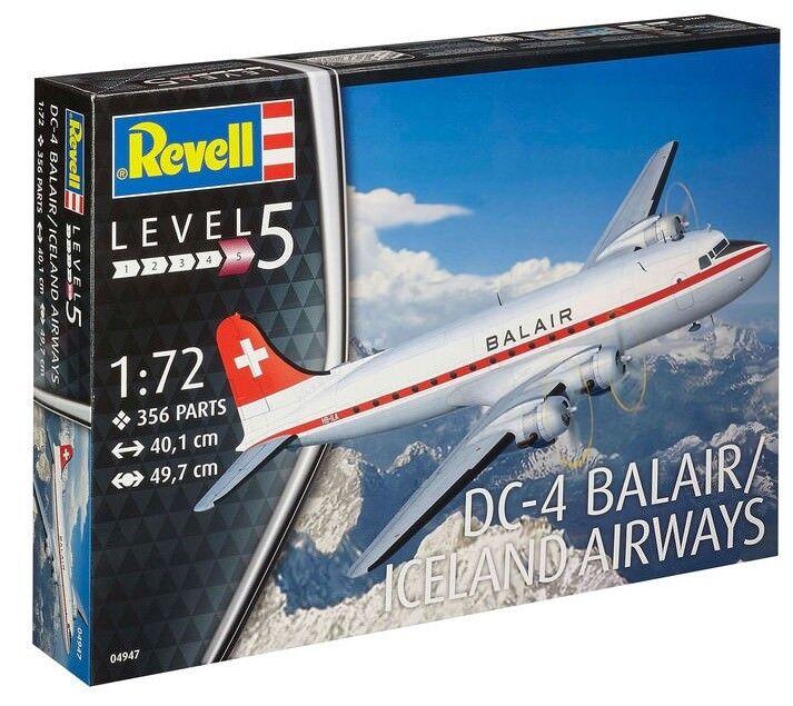 REVELL 04947 1 72 DC-4 Balair (Kit di plastica)