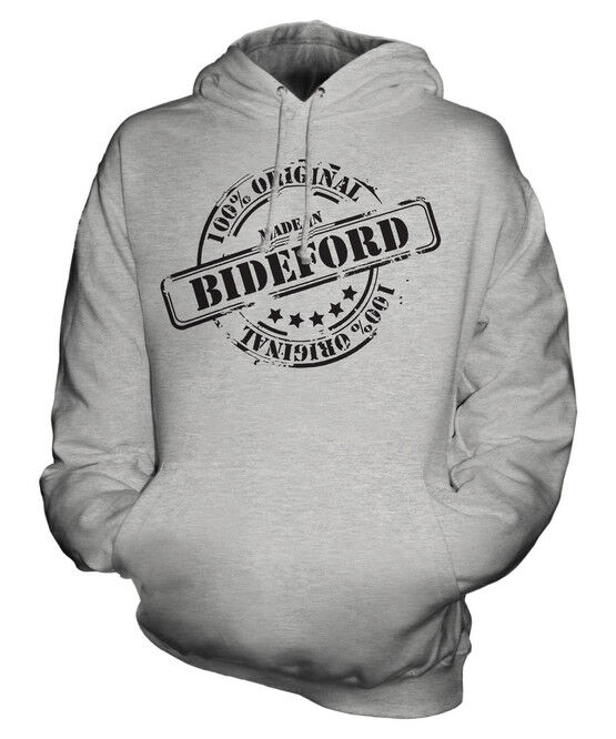 MADE IN BIDEFORD UNISEX HOODIE  Herren Damenschuhe LADIES GIFT CHRISTMAS BIRTHDAY 50TH
