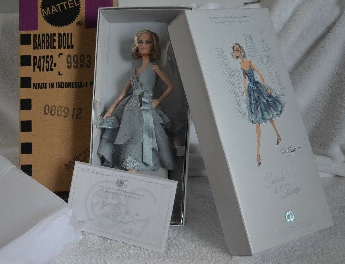 Barbie Collector Splash de plata platino etiqueta Robert Best exclusivo BFC 2009