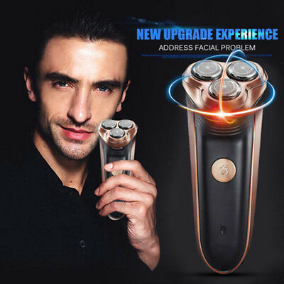 New Upgrade Rotary 3D Rechargeable Washable Men's Electric Deluxe Shaver Razor