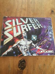 SILVER-SURFER-Original-Instruction-Booklet-Only-NES-Nintendo-Manual-Worn