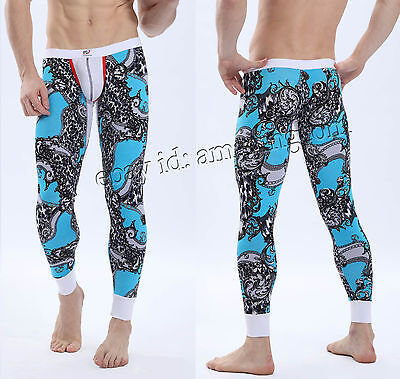 Super Soft Men's Sexy Long Johns Thermal Underwear Pants Male Bottom Trousers