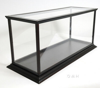 """Table Top Model Display Case Wooden Cabinet 36"""" Runabout & Speed Boats New"""