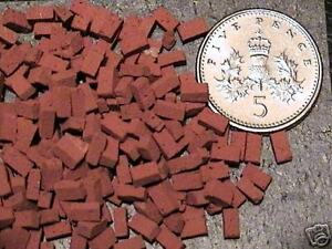 250-REAL-MINIATURE-BRICKS-FOR-MODEL-RAILWAYS-O-GAUGE