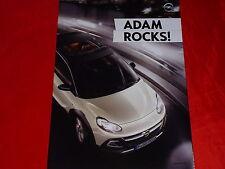 OPEL Adam Rocks Poster Faltprospekt von 2014