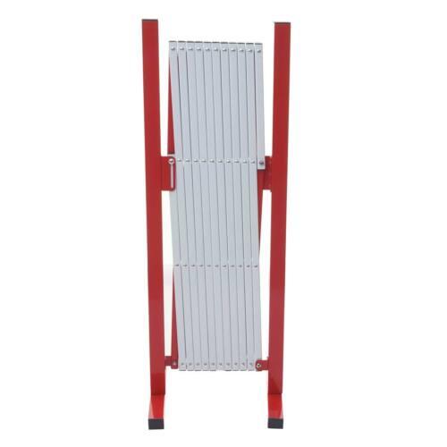 Höhe 103cm ausziehbar Absperrgitter MCW-B34 Alu rot-weiß Breite 37-300cm