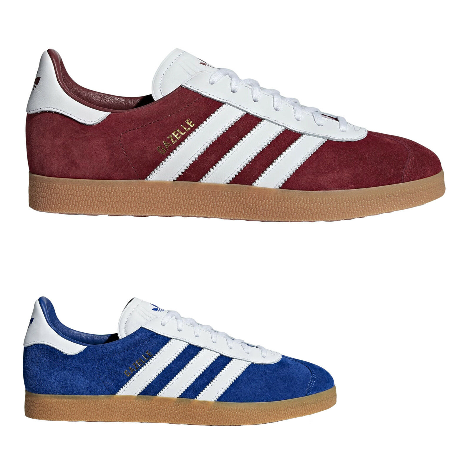 Adidas Gazelle Suede Casual Classic Lace-Up Low-Top Mens Trainers