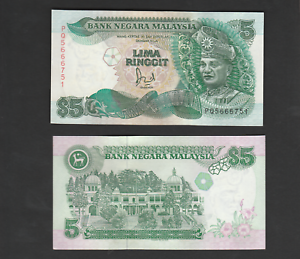 B0138 - Malaysia 6th RM5 Jaffar Sign TDRL Printer - UNC