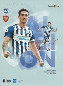 Brighton-amp-Hove-Albion-v-Arsenal-Official-Match-Programme-20th-June-2020