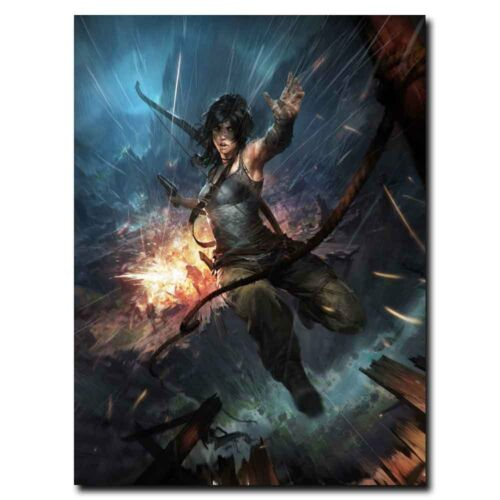 Tomb Raider 24x32inch Video Game Silk Poster Door Wall Decals Hot Cool Gifts