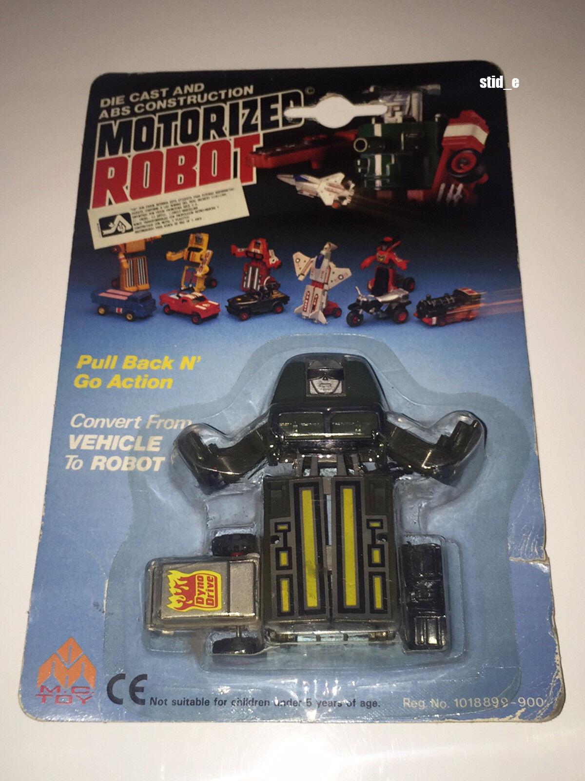 Motorized Robot   véhicule militaire   MC TOY'80    nouveau Comme neuf on voitured   DYNABOT motobot Vintage  sortie en ligne