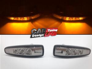Smoked-Lens-Amber-Led-Side-markers-Turn-Signal-Light-For-08-039-Mitsubishi-Lancer-X