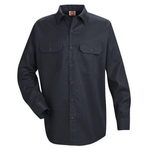 Red Kap Men/'s Utility Work Shirt 2 Pocket Solid Color Durable Industrial Uniform