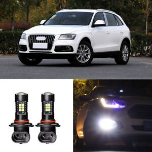 2x-Canbus-H11-3030-21SMD-LED-DRL-Daytime-Running-Fog-Lights-Bulbs-For-Audi-Q5