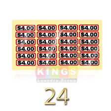 24PK GLOSSY  SLIDE DECAL $4.00 For GREENWALD Wascomat, Ipso, Huebsch, 00-9104-39