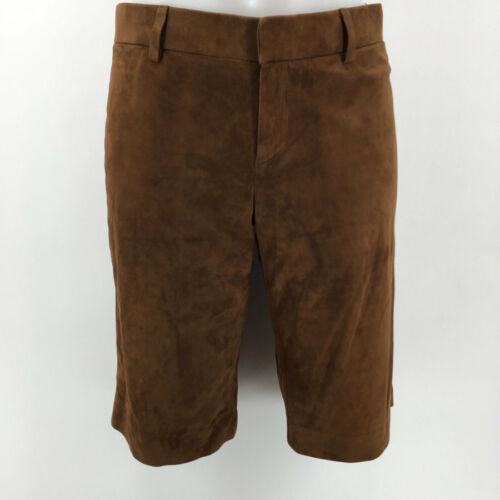 Ralph Lauren Brown Suede Shorts Size 4