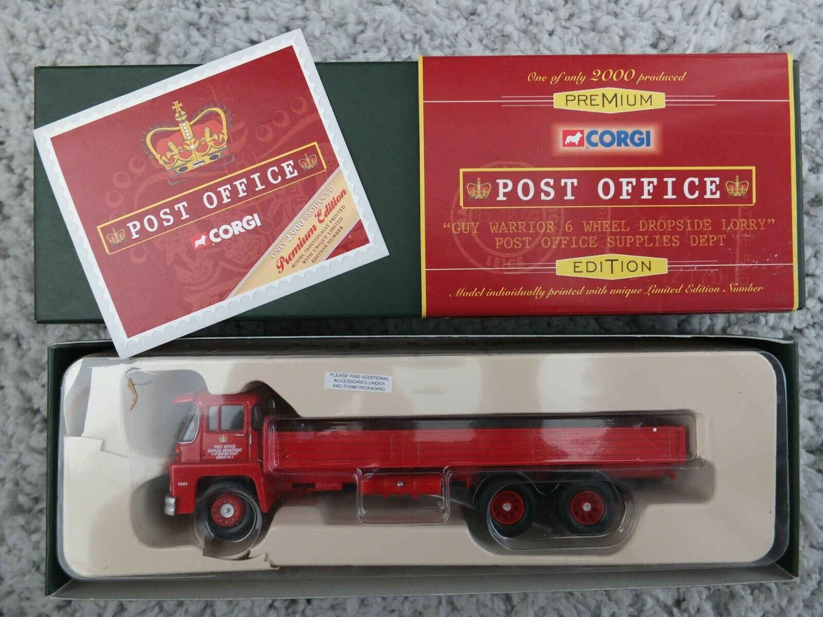 Corgi Premium Edition 29501 Post Office Guy Warrior 6 wheel Dropside Lorry