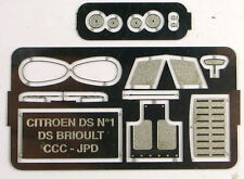 1/43e planche de photodécoupages pour Citroën DS proto Brioult