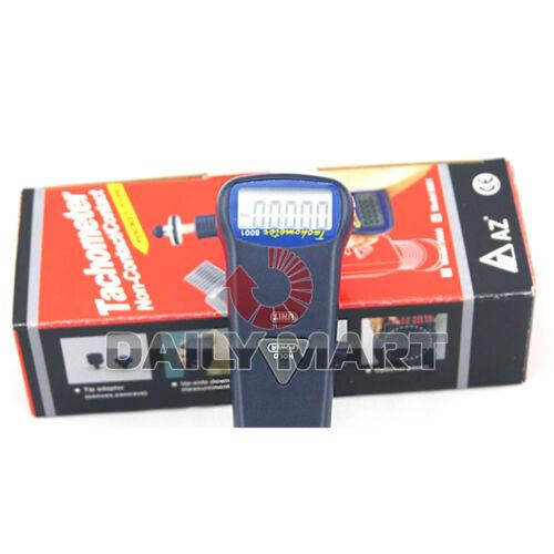 NEW Digital Contact Tachometer AZ-8001 10~19999RPM Rotation Surface Speed Tester