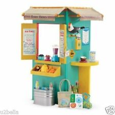 American Girl Doll Lea's Fruit Stand COMPLETE SET PLUS 30 Accessories NEW