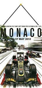 Monaco Grand Prix 2012 Shield with Cord Metal Tin Sign 20 X 30 CM FA0517-K