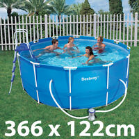 12ft Bestway Above Ground Frame Swimming Pool 366x122cm 56088