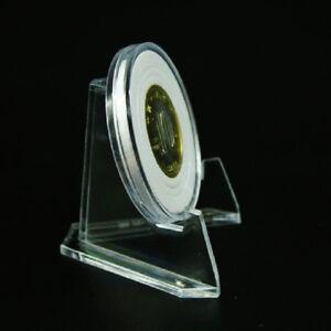 10x-Juego-Monedas-Soporte-Insignia-Medalla-Tarjetas-Pie-Pantalla-Accesorios