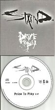 Aaron Lewis STAIND Price to play CARD SLEEVE EUROPE PROMO CD single USA seller