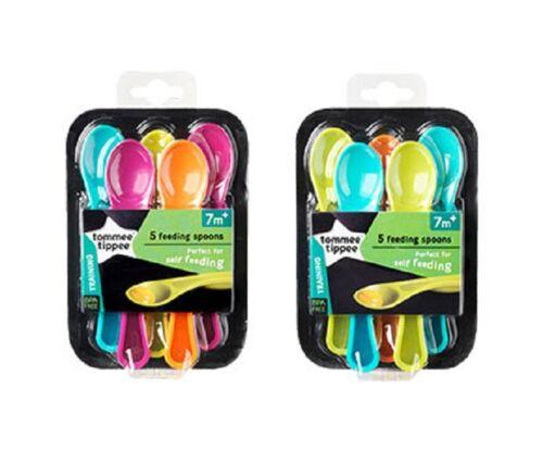 7m+ Tommee Tippee 446604 Explora Feeding Spoons x5