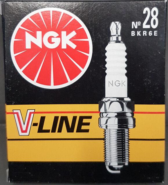 4X NGK V-Line28 Bujía BKR6E, 4856 , VL28, Nissan Opel Mazda Kia Suzuki #