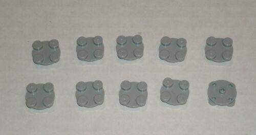LEGO NEW 2x2 Light Bluish Grey Turntable Plate Top 10x 4540203 Brick 3679