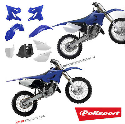 UFO Yamaha MX Front Number Plate Board Restyled YZ 125 250 2003-2014 White
