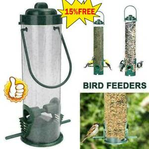 Outdoor Wild Bird Feeder Squirrel Garden Seed Food Container Tree Hanging Decor