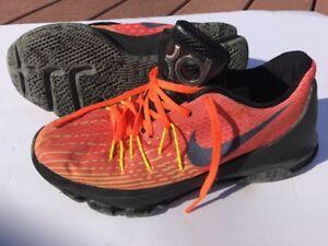 Nike Zoom KD Shoes Boy's Orange Black
