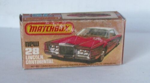 28 Lincoln Continental REPRO BOX MATCHBOX SUPERFAST n