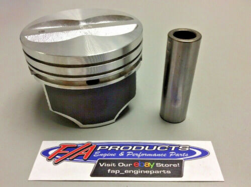For Small Block Chevy 350 Engine Flat Top Coated Piston Set Silvolite 3437HC+STD