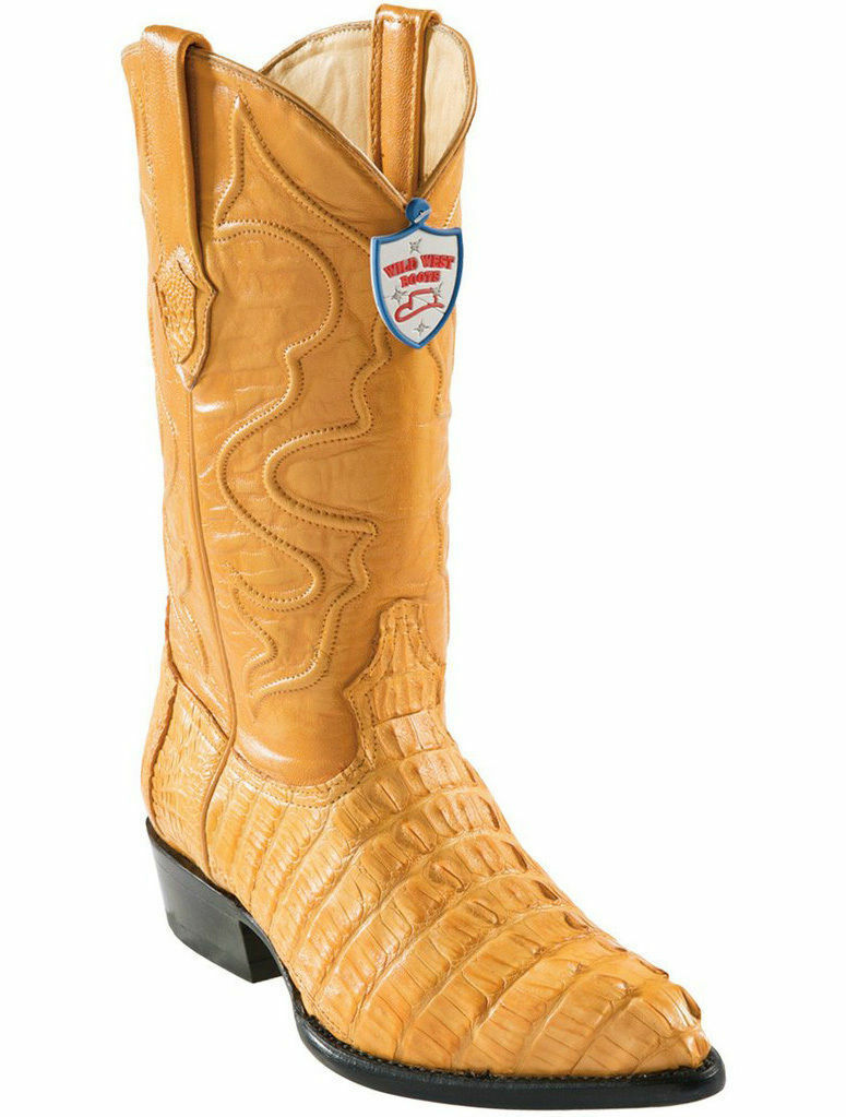 WILD WEST BUTTERCUP GENUINE CROCODILE TAIL WESTERN COWBOY BOOT J-TOE (EE+)