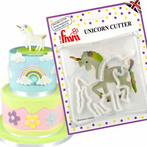 Image Is Loading Genuine FMM Sugarpaste Unicorn Cutter Cake Decoration Fondant