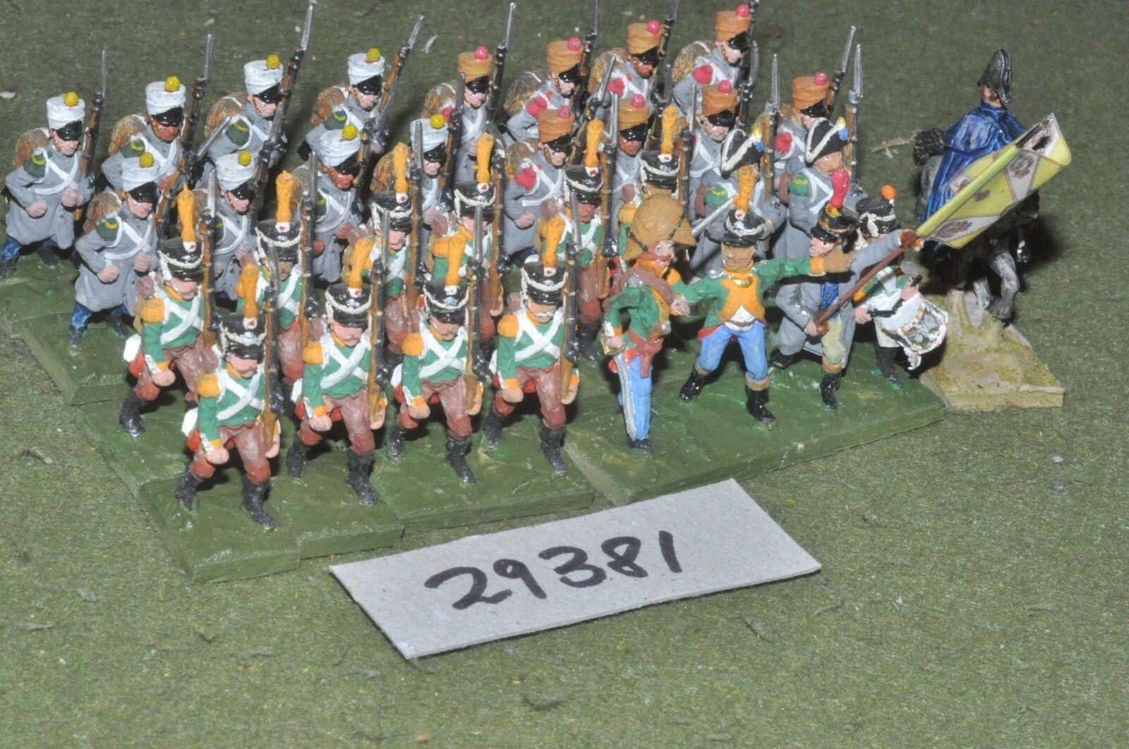 25mm napoleonic   saxecoburg - regt 32 figures - inf (29381)